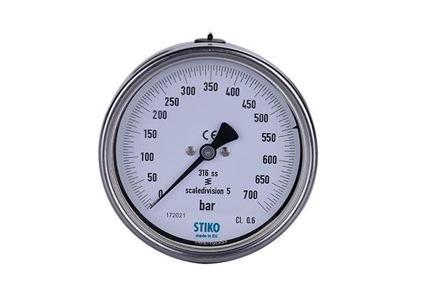 "Stiko 700 Bar Manometre [ G 1/2"" - ø 100mm - Class 1.0 ]"