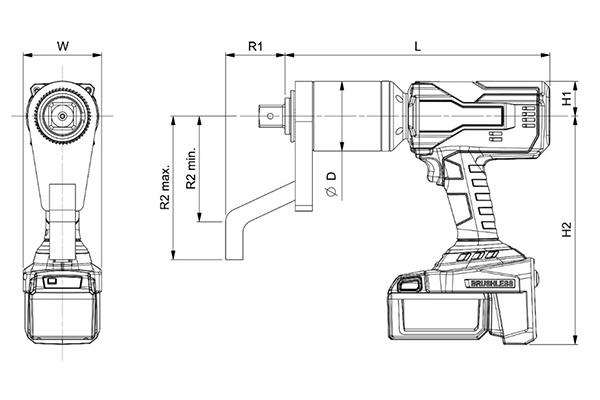 Norbar Evotorque EBT Açılı Akülü Tork Anahtarları [ 160 – 4.000 N.m ]