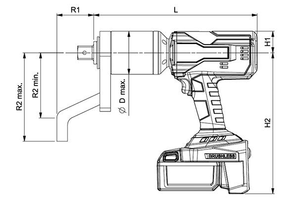 Norbar Akülü Tork Anahtarı Tek Hızlı – Tek Tetikli Model [ 160 – 4.000 N.m ]