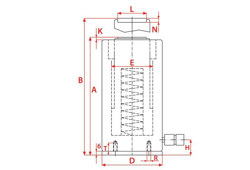 Larzep SAM Serisi Alüminyum Hidrolik Krikolar [23 – 140 Ton]