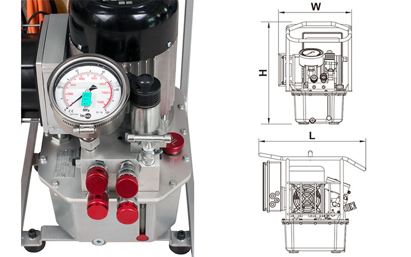 Elektrikli Hidrolik Tork Pompası 3 Hızlı - Debi 7.0 ltr/dk [ TORC-TECH LP3 ]