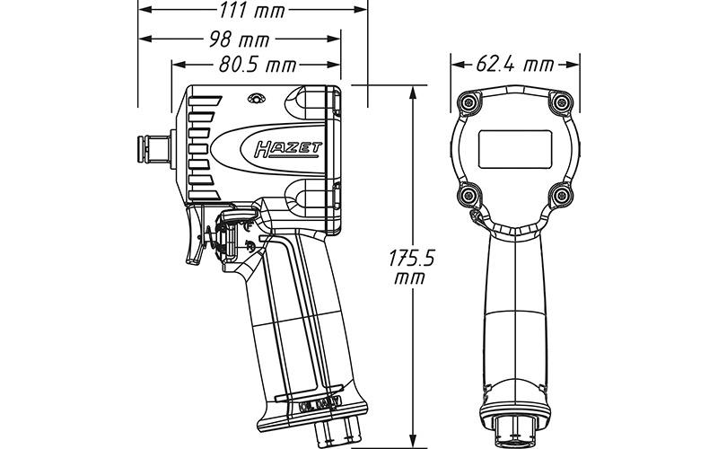 "Hazet 9012 M-1 Havalı Somun Sıkma - Sökme [ 1/2"" - 1200 Nm ]"
