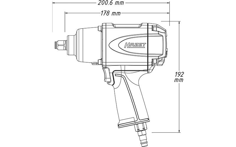 """Hazet 9012 SPC Havalı Somun Sıkma - Sökme [ 1/2"""" - 850 Nm ]"""
