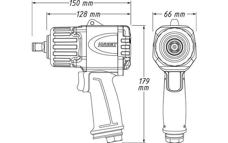 "Hazet 9012 TT Havalı Somun Sıkma - Sökme [ 1/2"" - 2200 Nm ]"