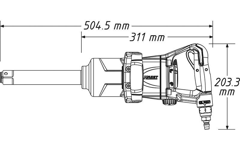 "Hazet 9014 MG-2 Havalı Somun Sıkma - Sökme [ 1"" - 2700 Nm ]"