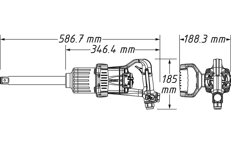"""Hazet 9014 P-1 Havalı Somun Sıkma - Sökme [ 1"""" - 3400 Nm ]"""