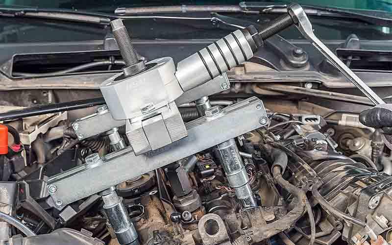 Hidrolik Enjektör Çektirme Hazet-4798-8/8 - Bosch - Delphi [ Vidalı Piston - 12 ton ]
