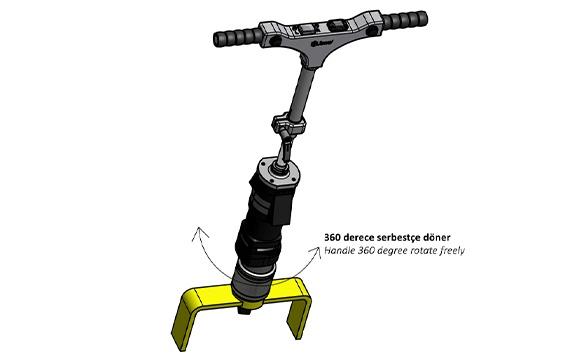 Juwel Elektrikli Tork Anahtarı Demiryolu Montaj ±%3.5 [ 300 – 1.200 N.m ]