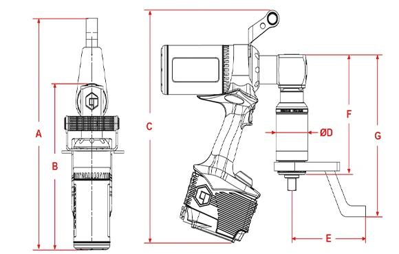 Norbar Elektrikli Tork Anahtarı Evotorque Açılı Tip ±%3 [ 100 – 7.000 N.m ]