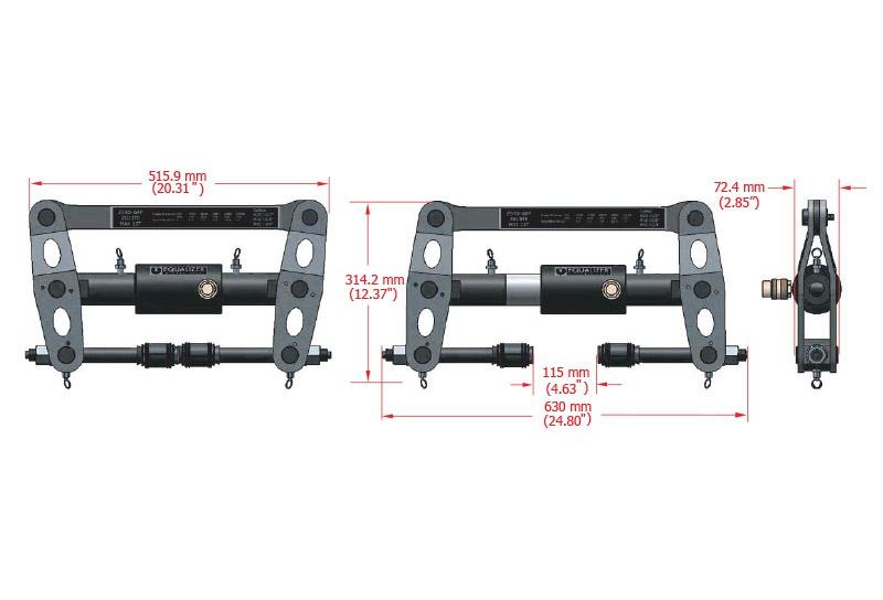 Equalizer Sıfır Boşluk Hidrolik Flanş Ayırıcı SG13TE [13 Ton - 115 mm]