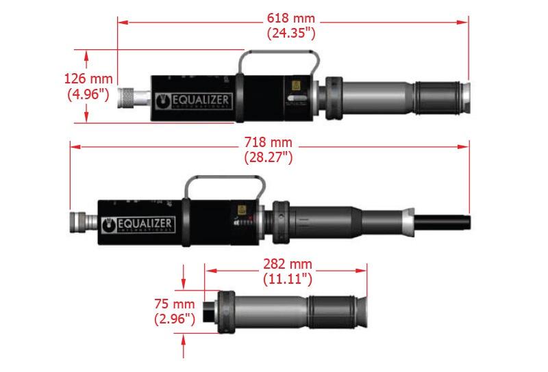 Equalizer Sıfır Boşluk Hidrolik Flanş Ayırıcı SG18TE [18 Ton - 100 mm]