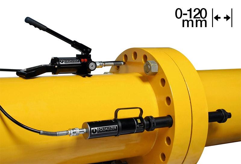 Equalizer Sıfır Boşluk Hidrolik Flanş Ayırıcı SG25TE [25 Ton - 120 mm]